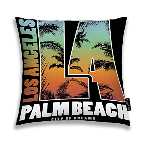 Randell Throw Pillow Covers Los Angeles Palm Beach Home Decorative Throw Pillowcases Couch Cases -