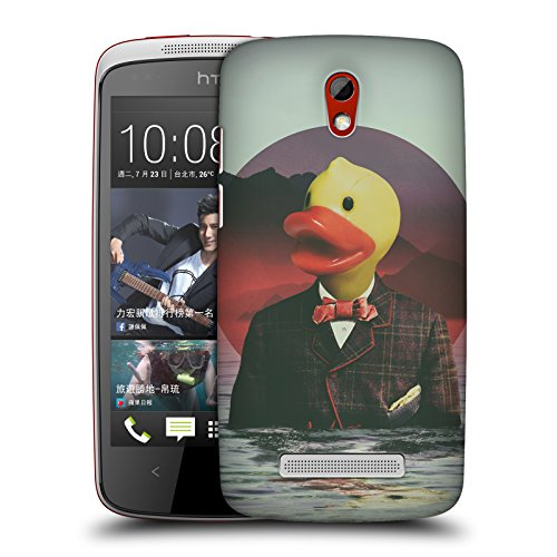 Official Ali Gulec Rubber Ducky With Attitude Hard Back Case for HTC Desire 500 (Htc 500 Desire Rubber Case)
