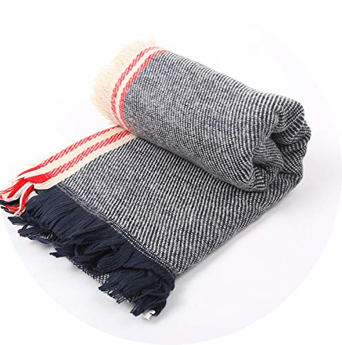 Brand Denim Scarf Women Autumn and Winter Warm thick Comfortable soft Cashmere,Gray