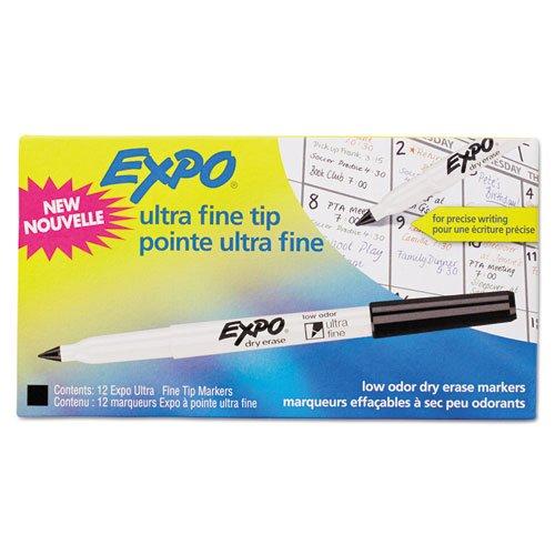 Expo Ultra Fine Point Dry Erase Markers - Ultra Fine Marker Point Type - 12 / Dozen