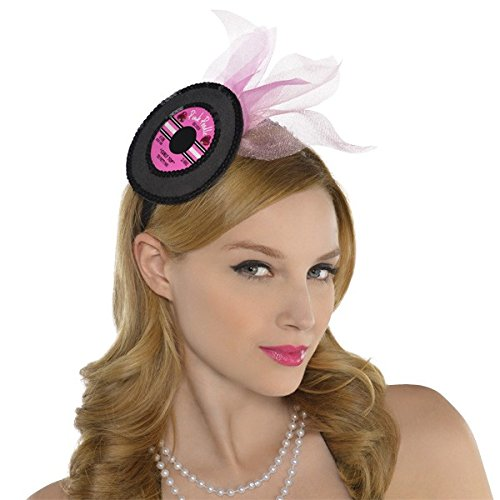 1950s Women's Hat Styles & History Nifty 50s Theme Party Record Headband Accessory Free size $11.16 AT vintagedancer.com