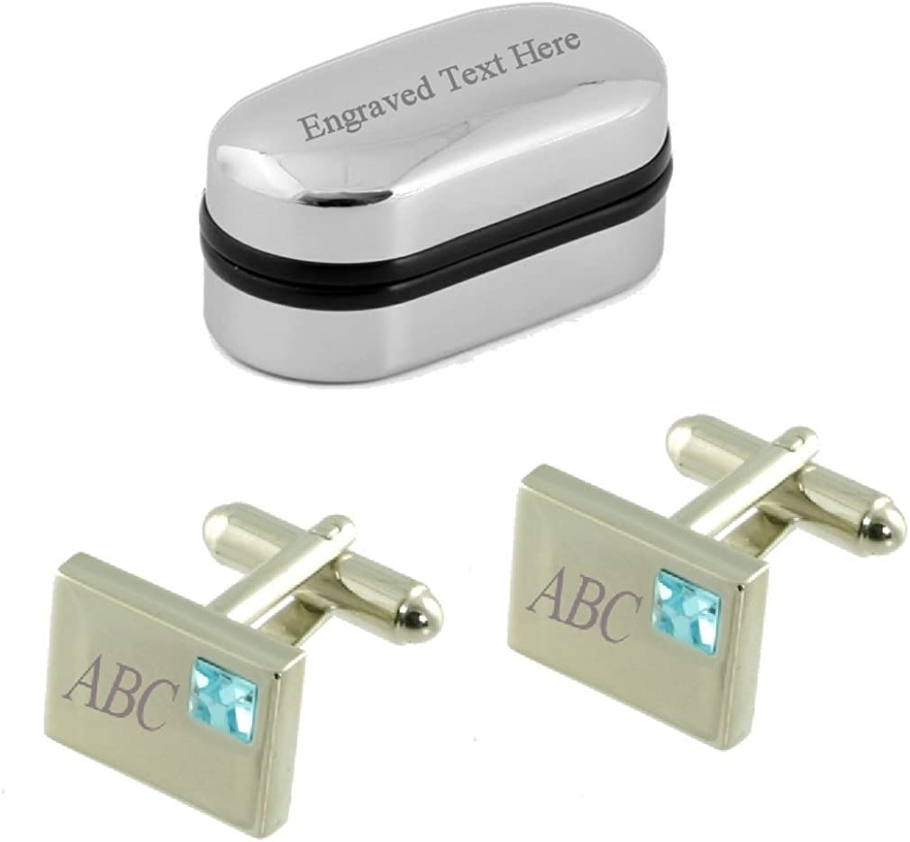 Personalised Silver Plated Any Message Round Cufflinks
