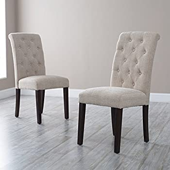 Tufted Parsons Dining Chairs   Set Of 2