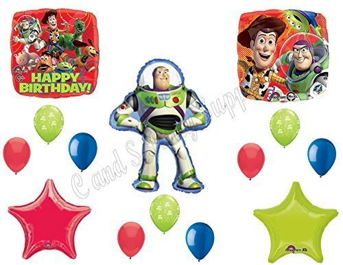 TOY STORY BUZZ Lightyear Birthday party Balloons Decoration Supplies Woody 14 pc by -