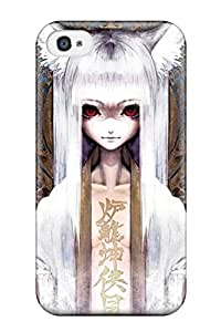 1637963K213355836 creepy textopen kitsune kanji whitefox girl Anime Pop Culture Hard Plastic iPhone 4/4s cases