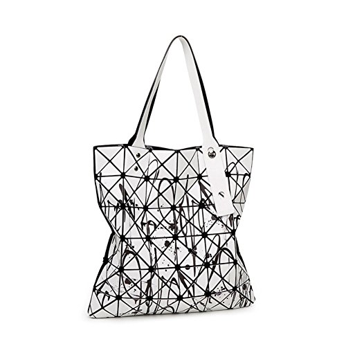Superman Silver Foil (Walcy PVC Japanese Style Women's Handbag,Vertical Section Square Geometry Package)