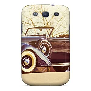 Defender Case For Galaxy S3, Beautiful Vintage Car Pattern