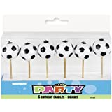 Soccer Ball Birthday Candles, 6ct