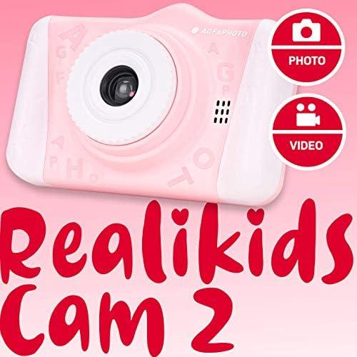 Foto, Video, 3,5 Zoll LCD-Display, Fotofilter, Selfie-Modus, Lithium-Akku AGFA Fotoapparat Realikids Cam 2 Digitalkamera f/ür Kinder Blau