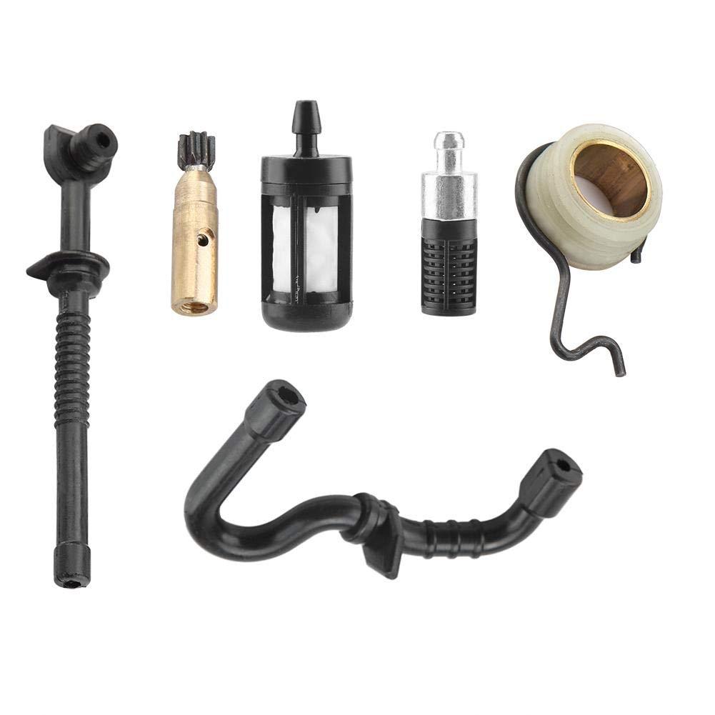 idalinya Bomba de Aceite de Motosierra para Stihl Ms180 Ms170 018 017 Kit de Filtro de Manguera de Combustible de Tornillo Sin Fin de Bomba De Aceite de Motosierra