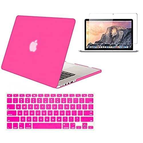 """LCD 3in1 PURPLE Crystal Case for Macbook Pro 13/"""" A1425 Retina display+Key Cover"""