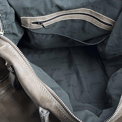 Borsa A Tracolla Da Donna 201146-0702 Di Mjus Borsa A Mano In Pelle Color Marrone Con Piccola Tasca Frontale Con Zip Tracolla Removibile