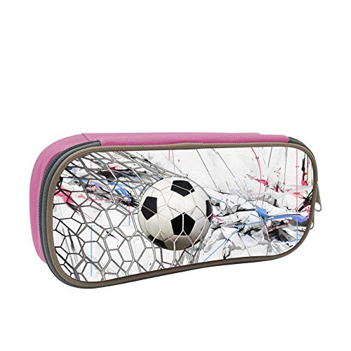 Soccer Score Printed Pencil Case, YPOHG Canvas Pen Bag, Boys Girls Adults Portable Pouch Bag with Double Zippers