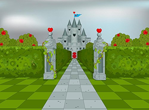 Wallmonkeys Palace of Queen of Hearts Wall Decal Peel and Stick Graphic WM286139 (30 in W x 22 in H)