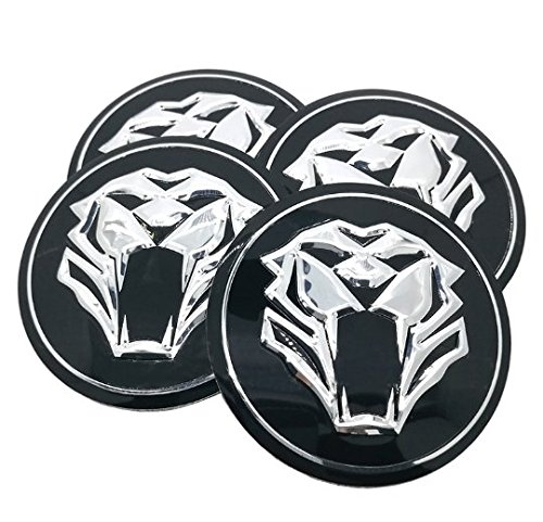 AOWIFT Tiger Head Car Steering Tire Wheel Center Car Sticker Hub Cap Emblem Badge ()