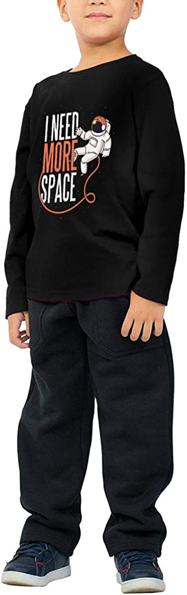 I Need More Space Childrens Long Sleeve T-Shirt Boys Cotton Tee Tops