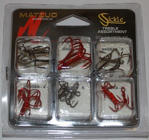 Matzuo Treble Sickle Hook - Matzuo Sickle Treble Hook Assortment (Assorted, Assorted)