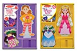 : Melissa & Doug Princess Elsie and Maggie Leigh Magnetic Dress up Bundle