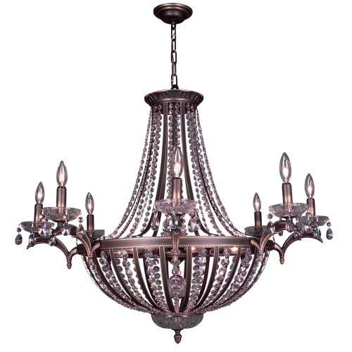 Classic Lighting 1928-RB 32 Crystal Chandelier from the Terragona Collection Swarovski Spectra Crystal