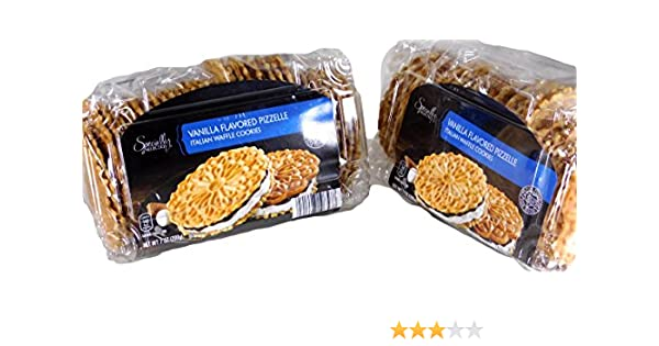 Amazon.com: Specially Selected Imported Vanilla Flavored Italian Waffle Cookies (2 Packages x 7 Oz.)