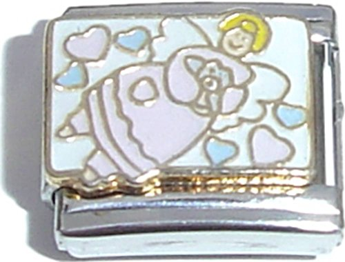 Gold Angel Italian Charm - 3