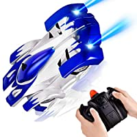 Rainbrace Remote Control Car, Gravity Defying RC Cars for Kids Wall Climbing High Speed RC Cars Stunt Rechargeable with 360 Degree Rotation Toy Cars Gifts - Blue