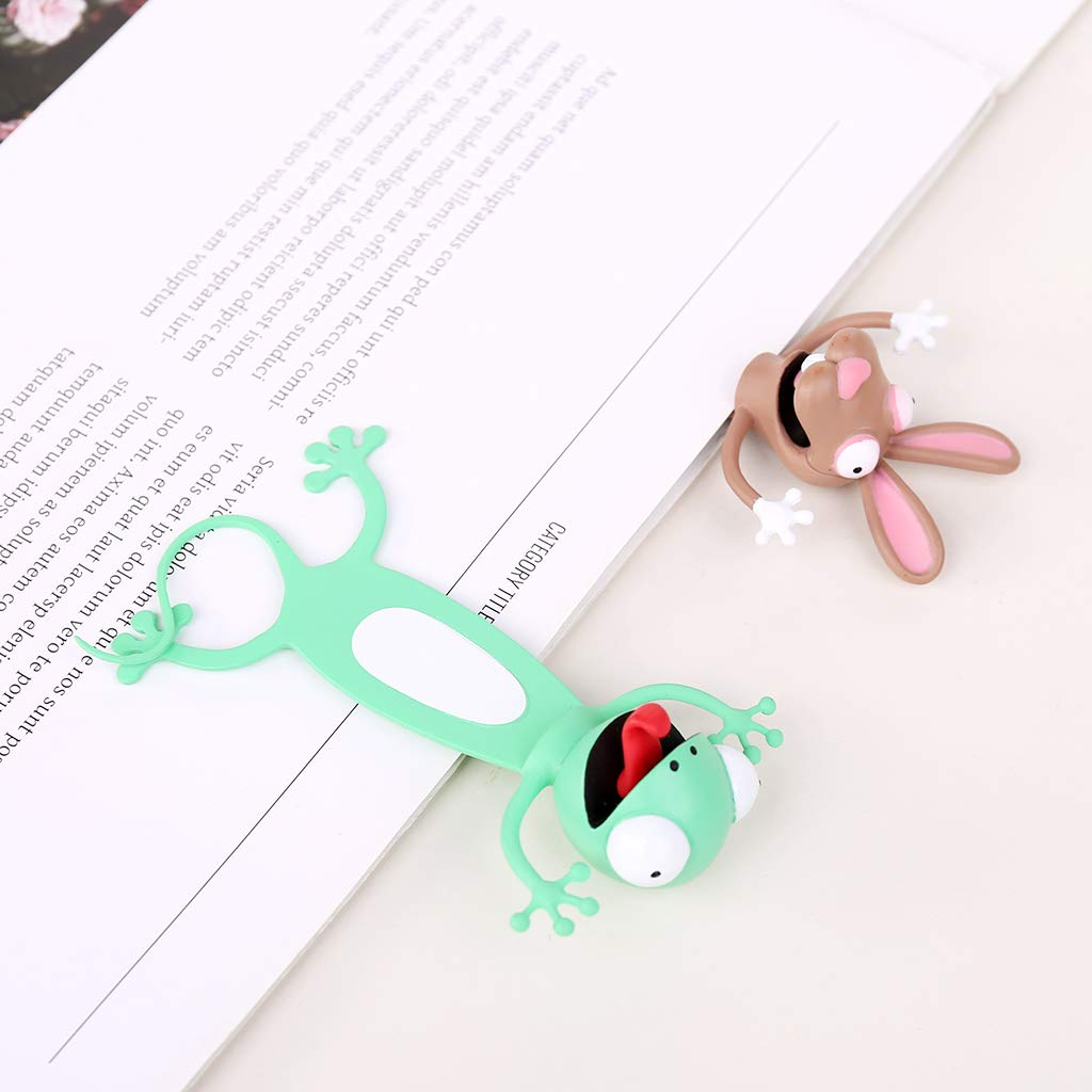 Tinaa Bookmark en Silicone Signet Livre 3D-Forme de Animal-Papeterie Pour Mark Gecko