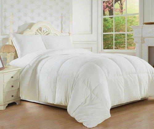 Clara Clark ® Goose Down Alternative Double Fill Comforter (Duvet) Full / Queen Size, White