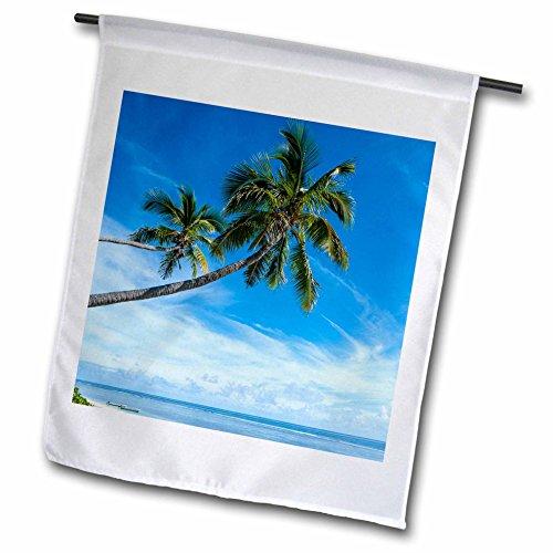Custom Fringed Square Pillow - 3dRose Danita Delimont - Tonga - Palm fringed Kolovai beach, Tongatapu, Tonga, South Pacific. - 12 x 18 inch Garden Flag (fl_250350_1)