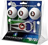 LinksWalker NCAA Florida State Seminoles - 3 Ball Gift Pack with Hat Trick Divot Tool