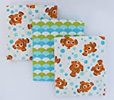 Disney Baby Finding Nemo 3-Pack Receiving Blanket
