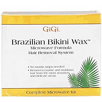 GiGi Brazilian Bikini Waxing Microwave Formula, Home Hair Removal Kit