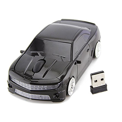 Jinfili Car Shape Wireless Mouse Ergonomic Optical Mice USB Receiver 3D 2.4GHz 1600DPI for PC Laptop Computer