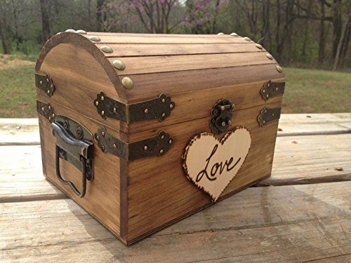 Rustic Wedding Chest - Love Letter Chest - Love Notes Chest - Rustic Wedding - Wishing Tree - Wishing Well Chest - Keepsake Box - Love (Chest Card Box)