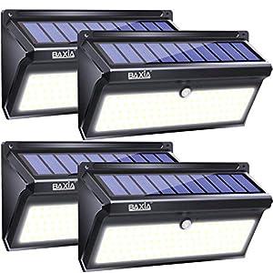 BAXIA TECHNOLOGY Solar Lights Outdoor, Wireless 100 LED Solar Motion Sensor Lights Waterproof Security Wall Lighting Outside for Front Door, Backyard, Steps, Garage, Garden (2000LM, 4PACK)