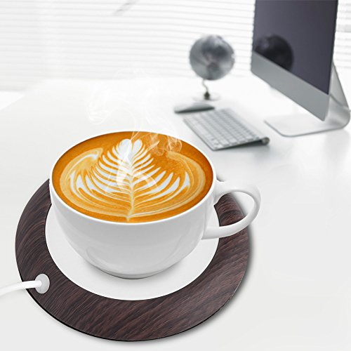 Portable Mug Warmer,Acogedor USB Cup Warmer,Coffee Warmer,Electric Cup Beverage Warmer for Water,Coffee,Tea (B)