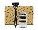Shave It Pro, Five Blade Razor, Handle + 4