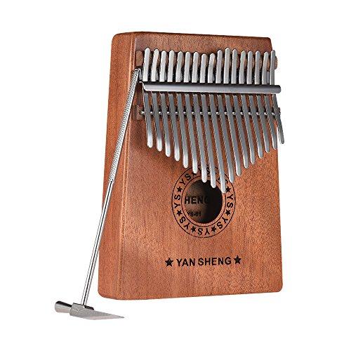 Walmeck Portable Kalimba 17 Keys Mbira Thumb Piano Mahogany Solid Wood Musical Instrument Gift for Music Lovers Beginner Students by Walmeck