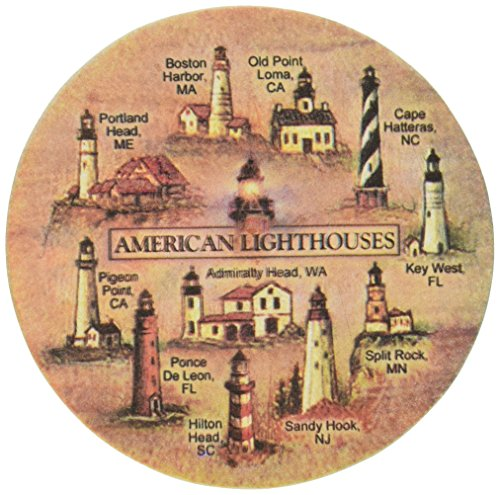 Thirstystone Stoneware Lighthouses Coaster, Multicolor