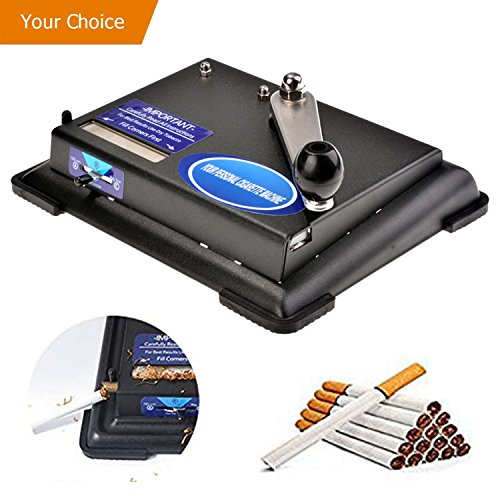 Hurbo Cigarette Rolling Machine Hand Operation Cigarette Making Tobacco Injector Maker Roller Machine (Black) by Hurbo
