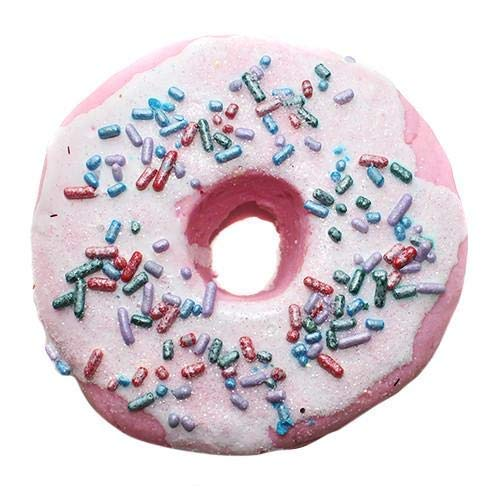 Handcrafted Vegan Bubble Bar Raspberry Zinger Donut For Making Bubbles Spa Cute Bath Moisturizes Dry Skin Gift for Her Girls Kids Handmade In USA Cruelty Free All Natural