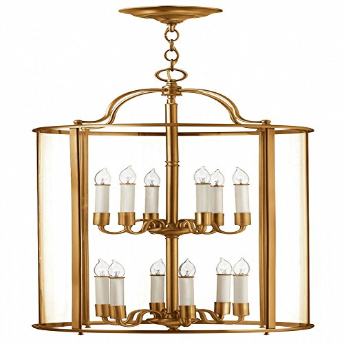 Hinkley 3479HR Traditional 12 Light Foyer from Gentry collection in - Foyer Pendant Gentry