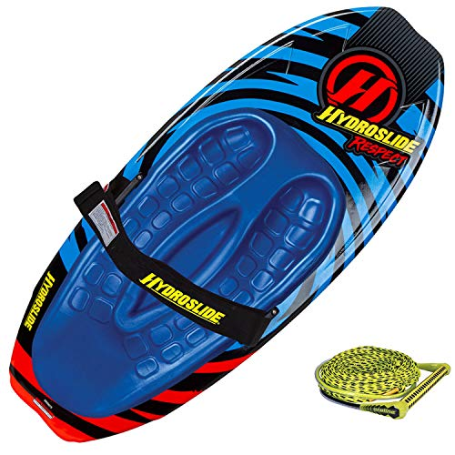 Hydroslide Respect Feathercore 52 Inch Tow Behind Kneeboard + 75-Foot Tow Rope