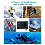 """WIFI Action Camera, SOOCOO Waterproof Action Camera 12MP Full HD 1080P - 2.0"""" LCD Screen, 170 Wide Angle Lens, 30M/98ft Underwater Diving Camera with 2 Batteries - Black (Memory Card Not Included)"""