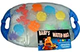 Inflatable Baby Pat and Play Water Mat with 12 Sponge Animals | non-toxic