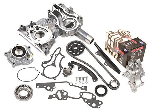 (Evergreen TCK2000HPWOP Fits Toyota 22R 22RE Heavy Duty Timing Chain Kit w/Timing Cover, Oil Pump, GMB Water Pump)