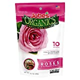 Jobe's Organics Rose Fertilizer Spikes, 3-5-3 Time Release Fertilizer for All Flowering Shrubs, 10 Spikes per Package