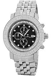 "JBW Men's JB-6114-270-A ""Melbourne"" Chronograph 2.70 Carat Black Dial Diamond Watch"