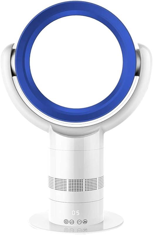 H&ZL Ventilador de pie con Mando a Distancia, Temporizador, Ventilador sin aspas, Velocidad del Viento Ajustable, Seguro para el bebé, Bajo Ruido 50dB,White: Amazon ...