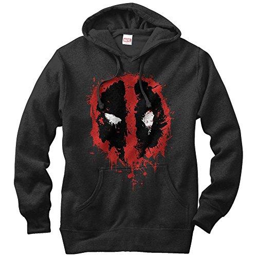 Deadpool Hoodie (Marvel Deadpool Splatter Icon Mens Graphic Lightweight Hoodie)